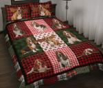 Basset Hound Christmas Quilt Bed Set