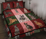 Australian Cattle Dog Christmas Quilt Bed Set