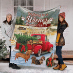 Dachshund Wonderland Fleece Blanket