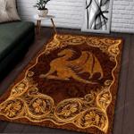 Dragon Embossed Area Rug