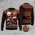 German Shepherd Reindeer Car Christmas Sweater