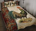 Chicken Mandala Vintage Style Quilt Bed Set