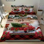 Red Truck Christmas Quilt Bed Set
