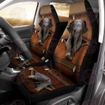 Elephant Leather Pattern Print Car Seat Cover