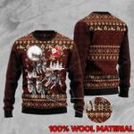 Husky Reindeer Car Christmas Sweater