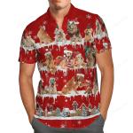 Golden Retriever Christmas Hawaii Shirt