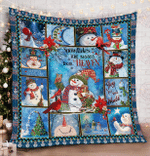 Snowflakes are kisses from heaven quilt blanket