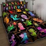 Baby Dragons Quilt Bed Set