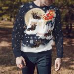 Dachshund Reindeer Cart Christmas Sweater