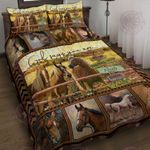 God Says You Are Horse Quilt Bed Set