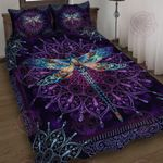 Dragonfly Purple Quilt Bed Set