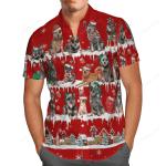 Australian Cattle Dog Snow Christmas Hawaii Shirt