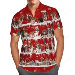Basset Hound Snow Christmas Hawaii Shirt