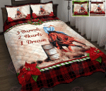 Barrel Racing Christmas Quilt Bed Set & Quilt Blanket