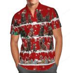 Chocolate Labrador Snow Christmas Hawaii Shirt