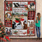 It's Been A Good Day - Christmas Cow Fleece Blanket