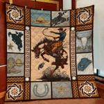 Cowboy Pattern Quilt Blanket
