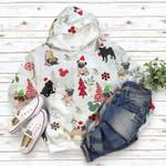 Pug Flannel Christmas Hoodie