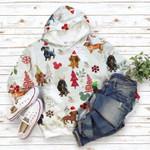 Dachshund Flannel Christmas Hoodie