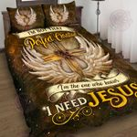 I Need Jesus Quilt Bed Set