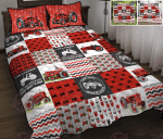 Red Tractor Quilt bed set & Quilt Blanket
