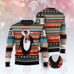 Colorful Pattern Penguin Ugly Christmas Sweater