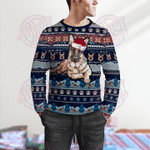 German Shepherd Christmas Pattern Sweater