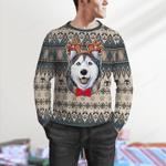 Cute Husky Christmas Pattern Sweater
