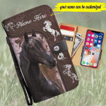 Black Horse Customized Phone Case Wallet