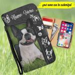Boston Terrier Customized Phone Case Wallet