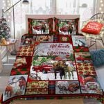 All Hearts Come Home For Christmas, Horse Quilt Bed Set