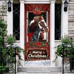 Beautiful Christmas Horse Door Sticker