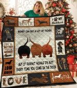 I Love My Dachshund Quilt Blanket