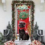 Labrador Retriever Let It Snow Door Sticker