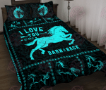 Horse I Love You To The Barn & Back Quilt Bed Set & Quilt Blanket