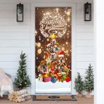 Merry Christmas Bulldog Christmas Tree Door Sticker