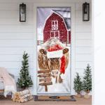 Cow Barn Merry Christmas Door Sticker