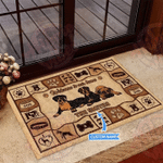 Boxer Welcome To Our Home Customized Doormat