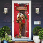 Christmas Horse Door Sticker