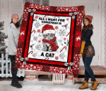 All I Want For Christmas Is A Cat Quilt Blanket