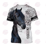 Beautiful Friesian Horse 3D All Over Printed Hoodie