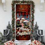 Happy Family Cow Mooey Christmas Door Sticker