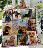Dachshund Angels have paws quilt blanket