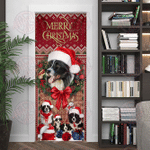 Christmas Begins With Border Collie Door Sticker