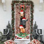 Moo-ry Christmas Cow Door Sticker