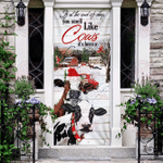 Cow Farm Life Christmas Door Sticker