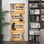 Horse Be Awesome Everyday Door Cover