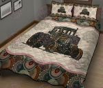 Farmer Tractor Mandala Quilt Bed Set