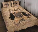French Bulldog Crack Quilt Bed Set