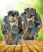 3D Cats All Over Printed Hoodie